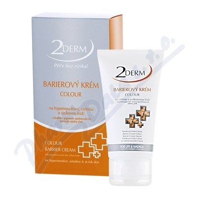 2DERM Barierový krém colour 50ml
