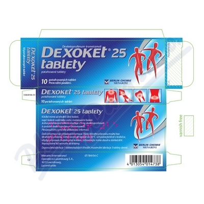 Dexoket 25mg tablety tbl.flm.10x25mg I