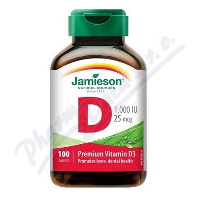 JAMIESON Vitamín D3 1000 IU tbl.100