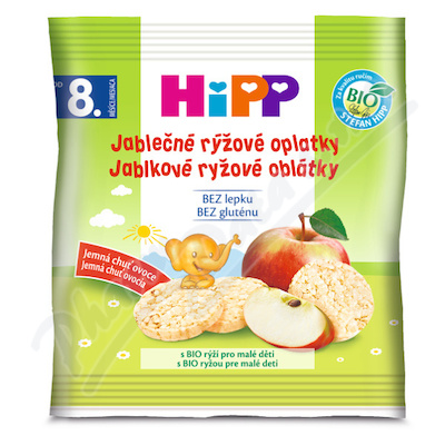 HiPP SUŠENKY BIO Jablečné rýž.oplatky 30g