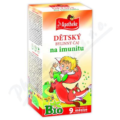 Apotheke Dětský čaj BIO na imunitu 20x1.5g n.s.