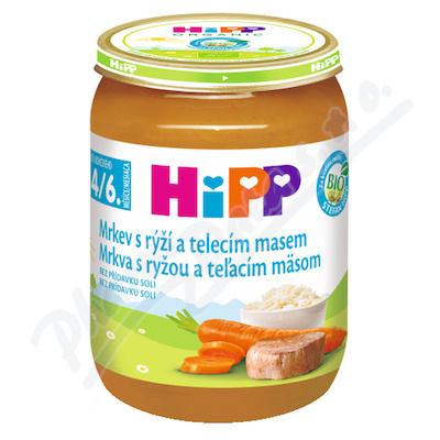HiPP BABY BIO Mrkev s rýží a tel.mas. 190g
