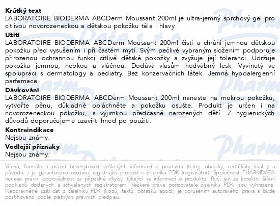 BIODERMA ABCDerm Gel moussant 200 ml