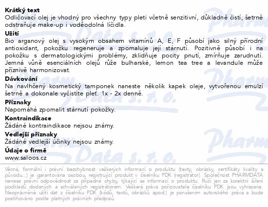 SALOOS Hydrofilní odlič. olej Argan Revital 50ml