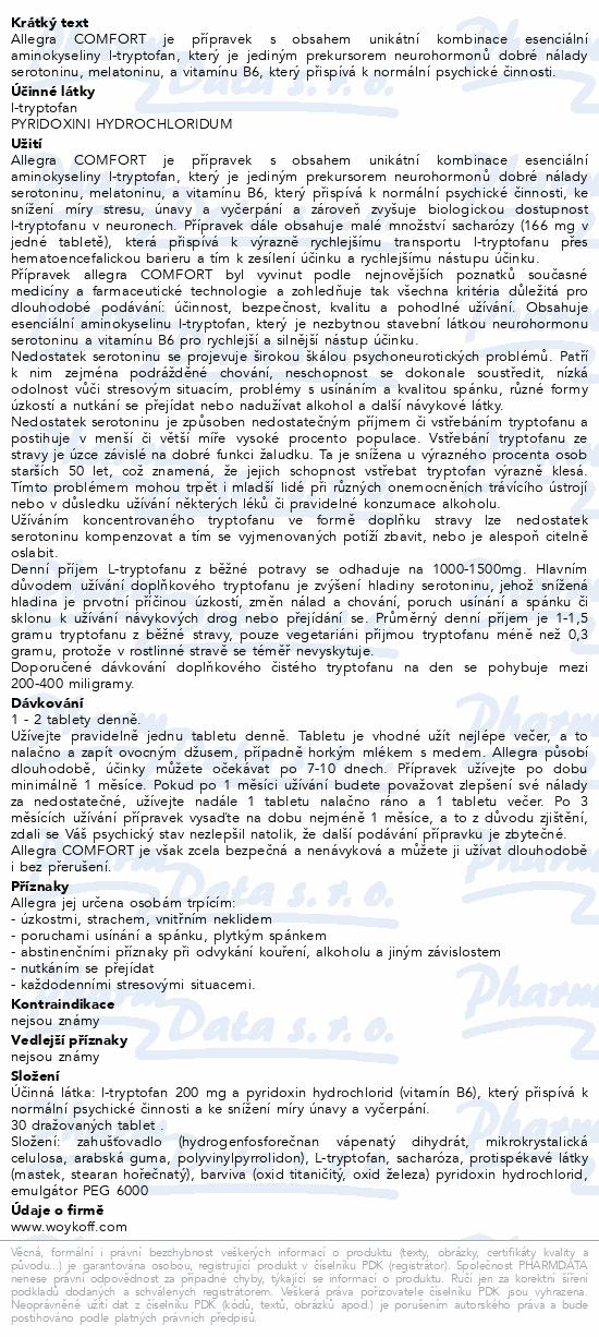 allegra COMFORT tbl. obd. 30