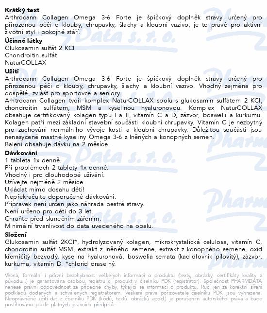 Annabis Arthrocann Collagen Forte kloub.výž.tbl.60