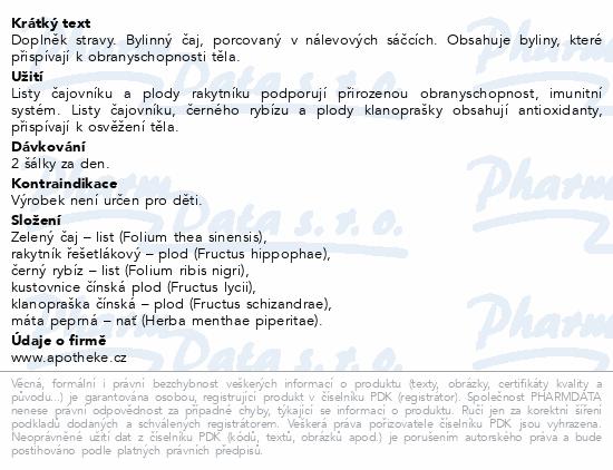 Apotheke Na imunitu s kustovnicí čaj 20x2g