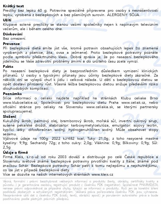 SCHAR SALINIS preclíky bez lepku 60g